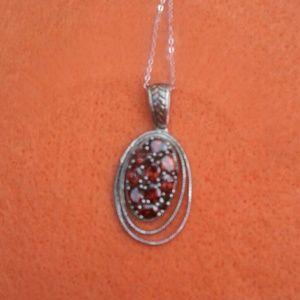 Brand new Garnet necklace